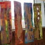 Textielwerk Bij Vrijdag  - art quilt, 3D objekty, vlna