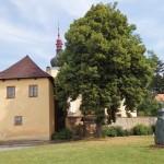 Stará fara a kostel Nanebevzetí  Panny Marie v České Skalici